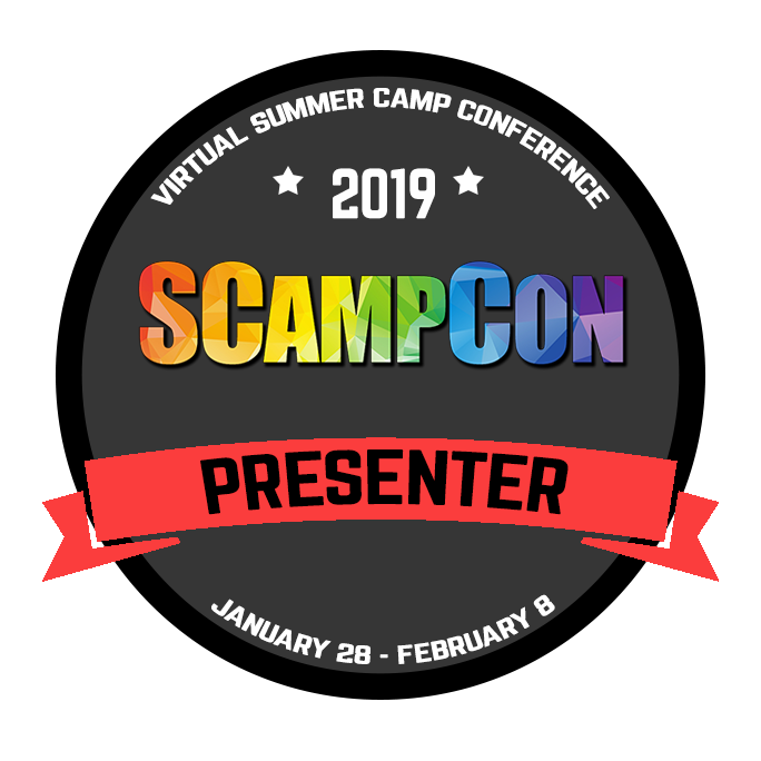 "Wondering what I've been up to lately? - Get the All-Access Pass so you can catch my presentation, ""Blog Basics: An Intro to Blogging for Camp Pros"", along with presentations from dozens of other summer camp industry experts."