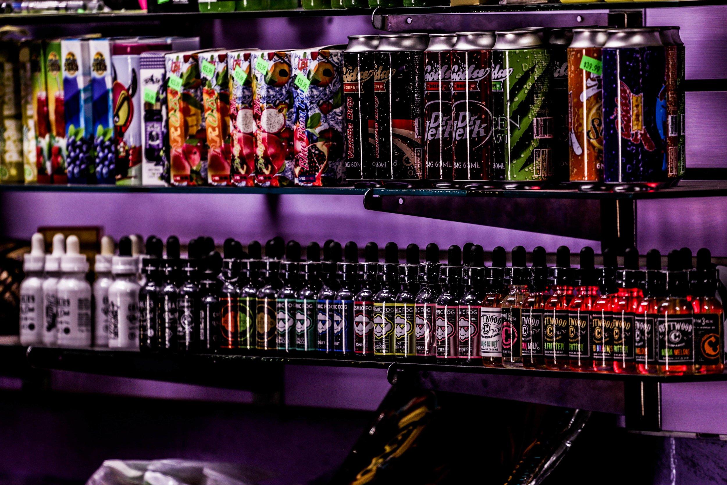 Premium E-Juice - Charlies Vape, Cosmic Fog, Cuttwood, Soda Drips, Space Jams, Prophet