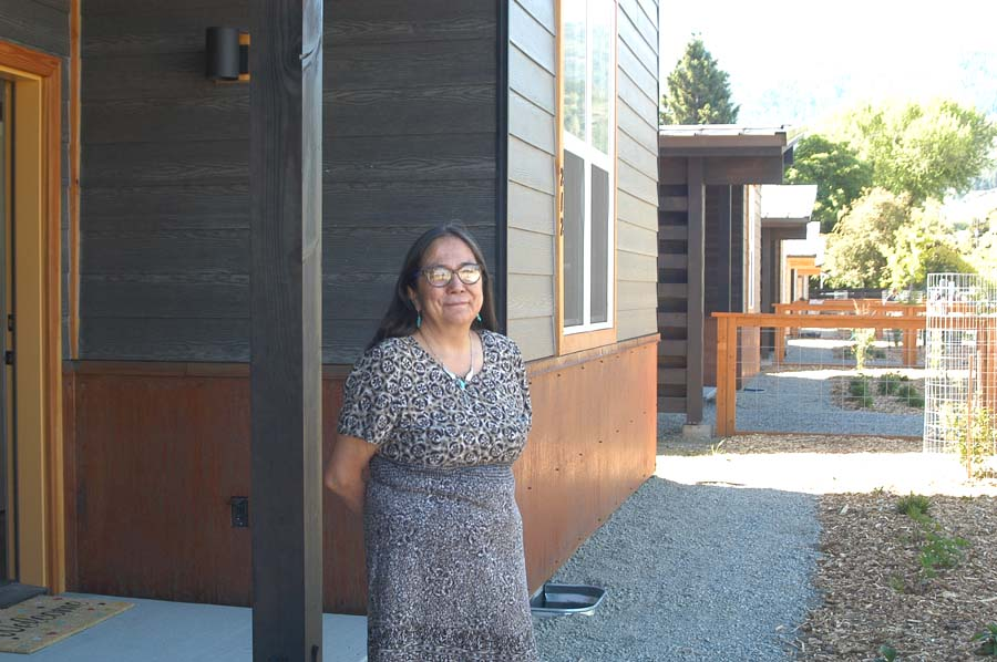 Theresa Days at her new home on Canyon Street in Twisp: regaining a sense of belonging in the community.