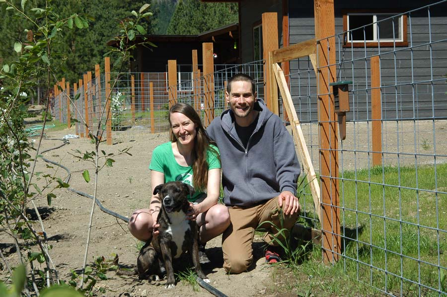 Louisa Moratti and Matthew Pickard moved into a new home near Mazama.