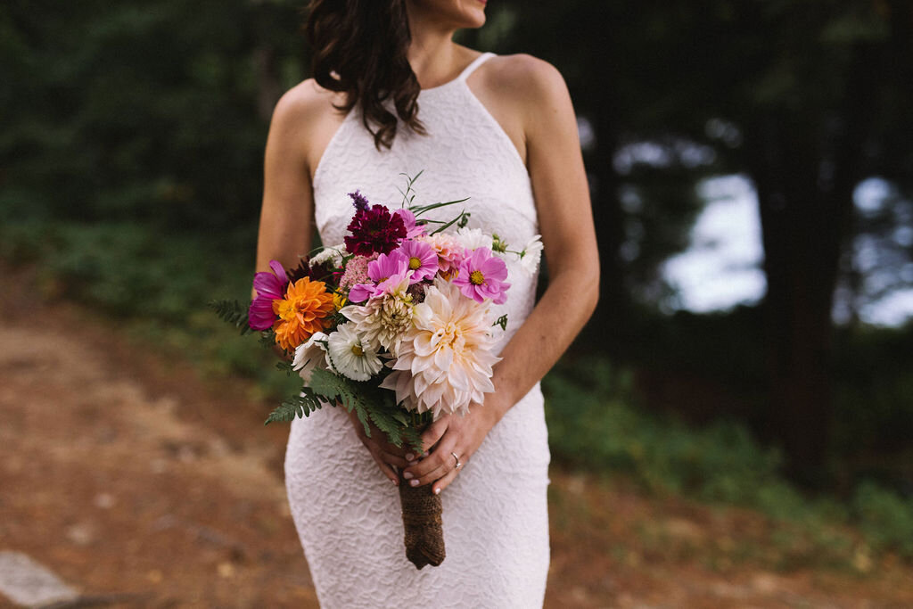 Florals Arranged by the bride and her 'creative team' of bridesmaids.  Megan Michelle Photography