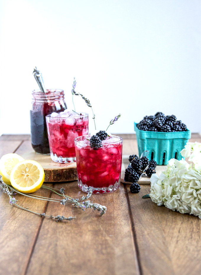 Blackberry Jam N' Gin Lavender Smash made with only 5 local ingr from Cheers Years! #gincocktail