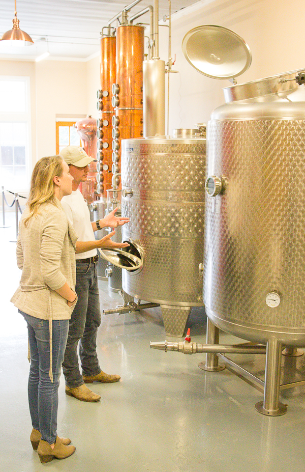 Speaking with Lee of Boots Vodka at the distillery in Wendell, NC.jpg