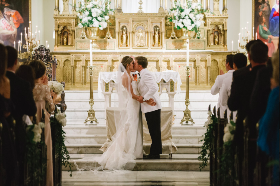It's difficult to capture the grandness of the church where Paige and Parker exchanged their vows. The  Immaculate Conception Parish  is a beautiful location, making the day extraordinarily special by beginning in such a sacred space