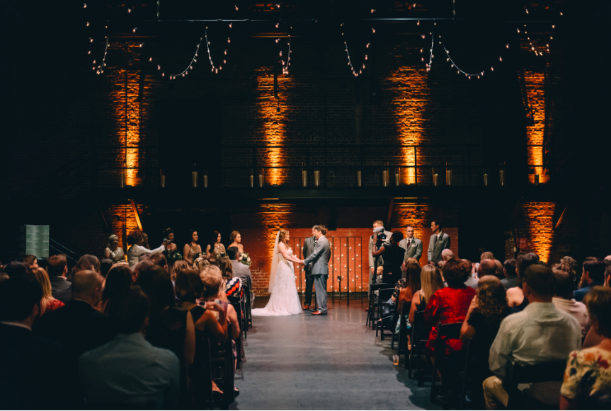 Simple, but what a statement. Planning this layout and decor and seeing Mark & Whitney exchanging vows proves to me that even minimal enhancement can make a powerful impact. Captured by:  Dark Roux