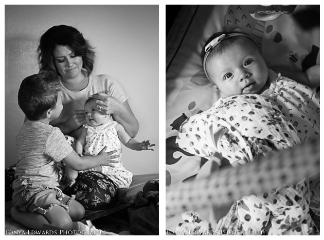 Tonya Edwards | Lifestyle Family Photographer | baby girl with mother and brother