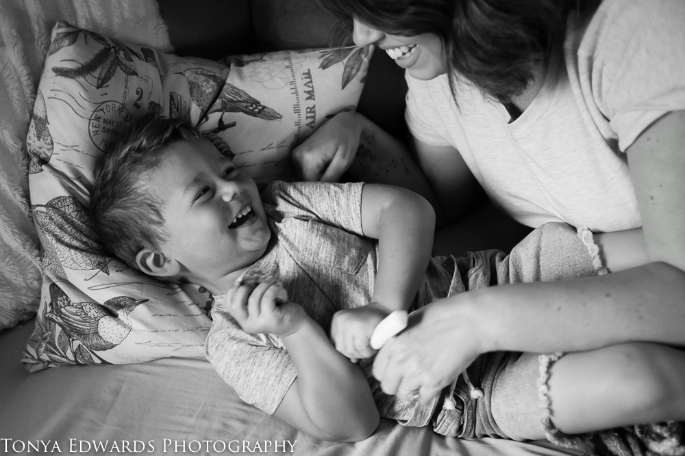 Tonya Edwards | Lifestyle Family Photographer | mother and son sweet moments