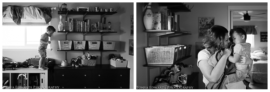 Tonya Edwards | Lifestyle Family Photographer | little boy playing in his room photography