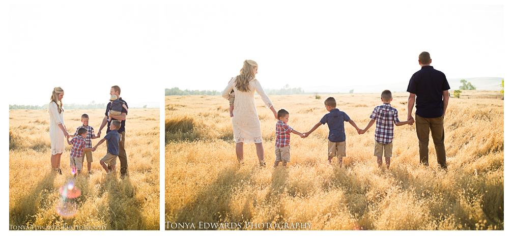 Tonya Edwards | Oroville Family Photographer | sunset family session
