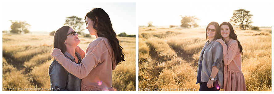 Tonya Edwards | Oroville Family Photographer | pink sweater in a golden field