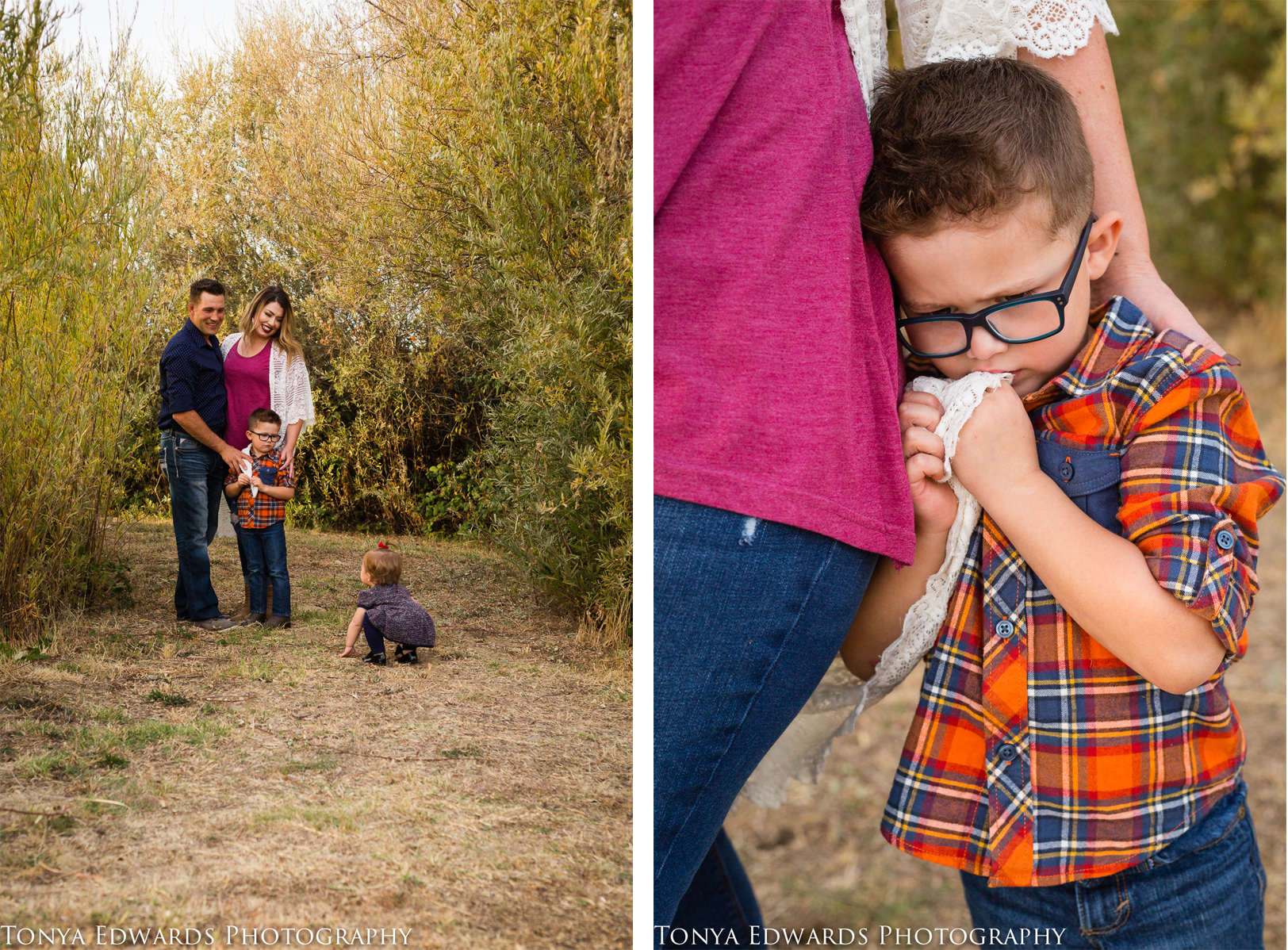 Tonya Edwards | Oroville Photographer | baby girl and little boy being kids