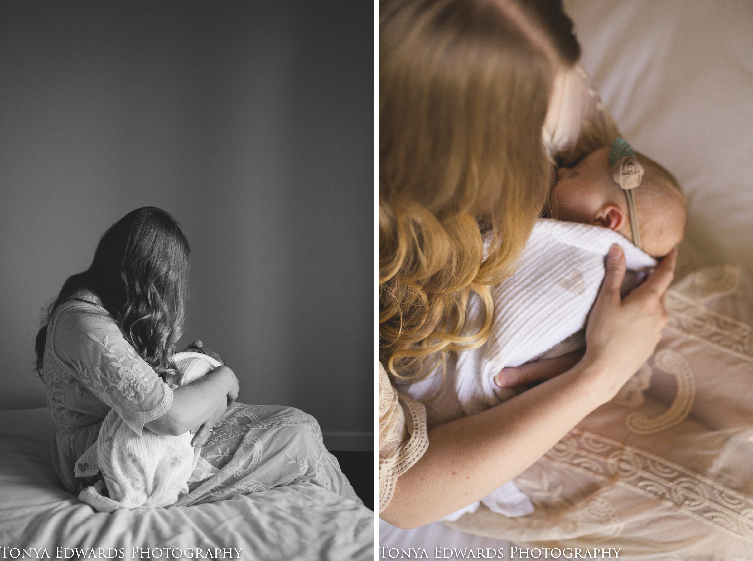Tonya Edwards | Oroville Family Photographer | mommy and me mini session with new mother and infant baby girl breastfeeding