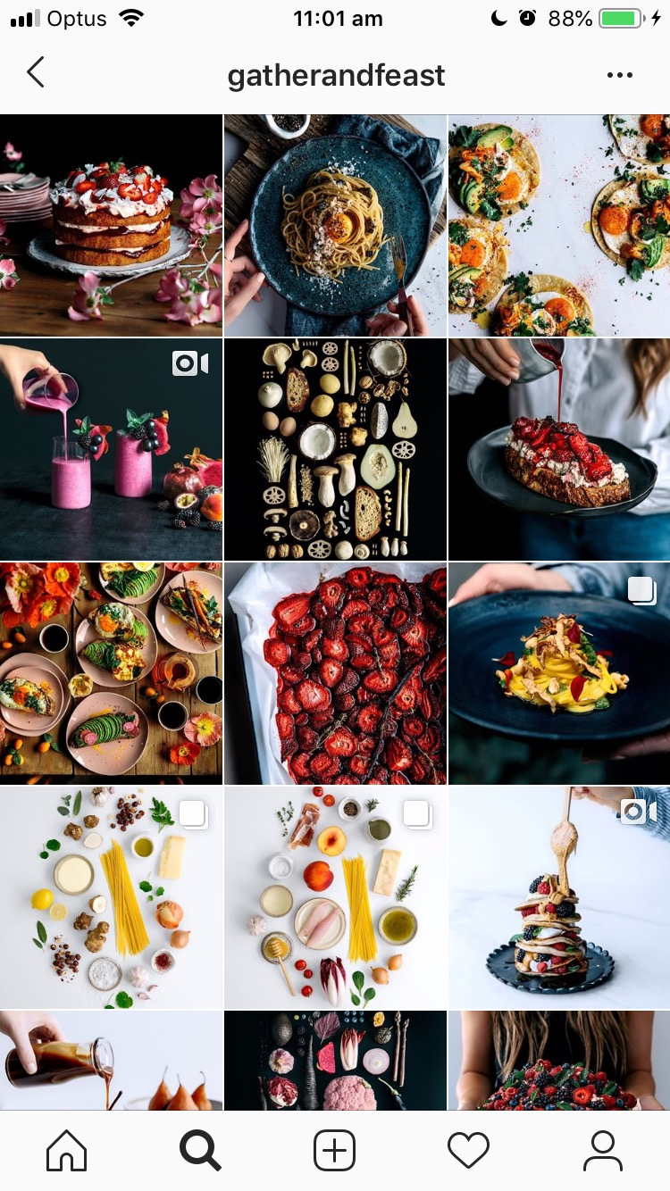 Difficult not get hungry when looking  @gatherandfeast 's profile!