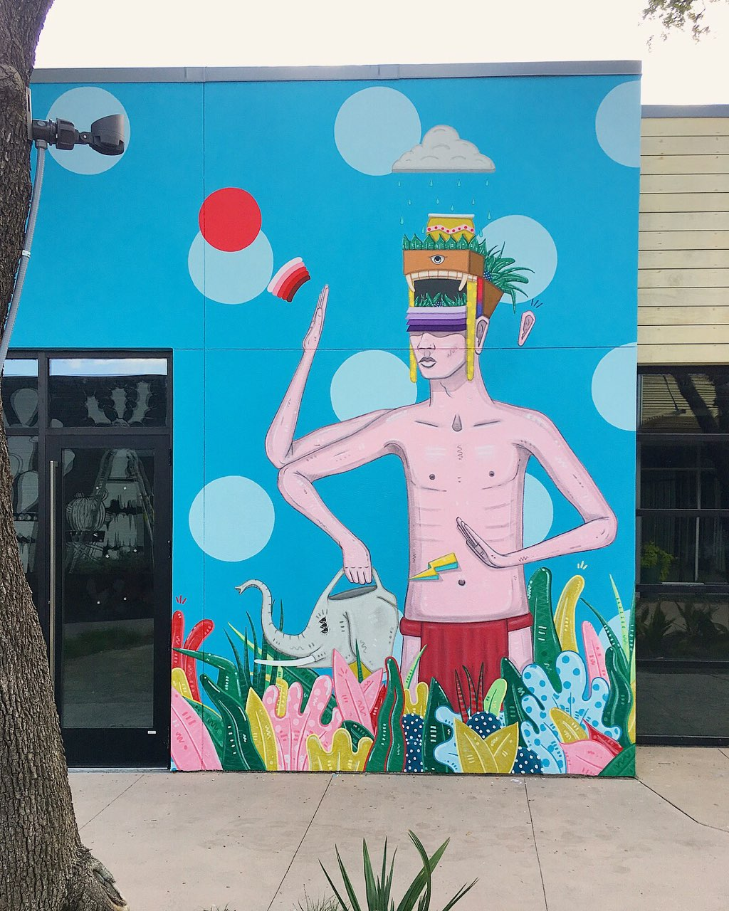 Drigo mural at The Hill Shopping Center in Dallas, Texas off of Walnut Hill