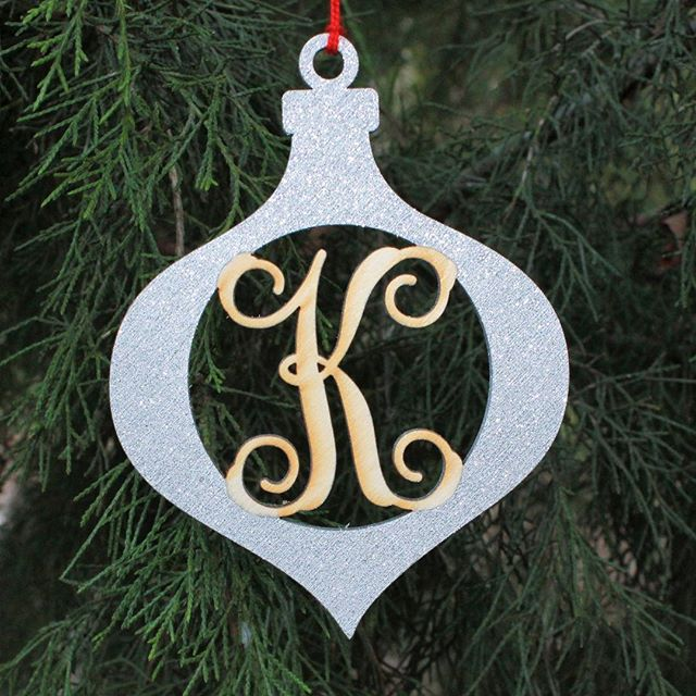A week before Christmas and we are still decorating our tree. Shown are our monogram ornaments, which have been spray painted and glittered. #monogram #monograms #monogrameverything #ornaments #woodcutout #woodcutouts #woodenornaments #woodornaments #christmas #diy #diychristmas #diyornaments #woodshape #woodenmonogram #woodmonogram