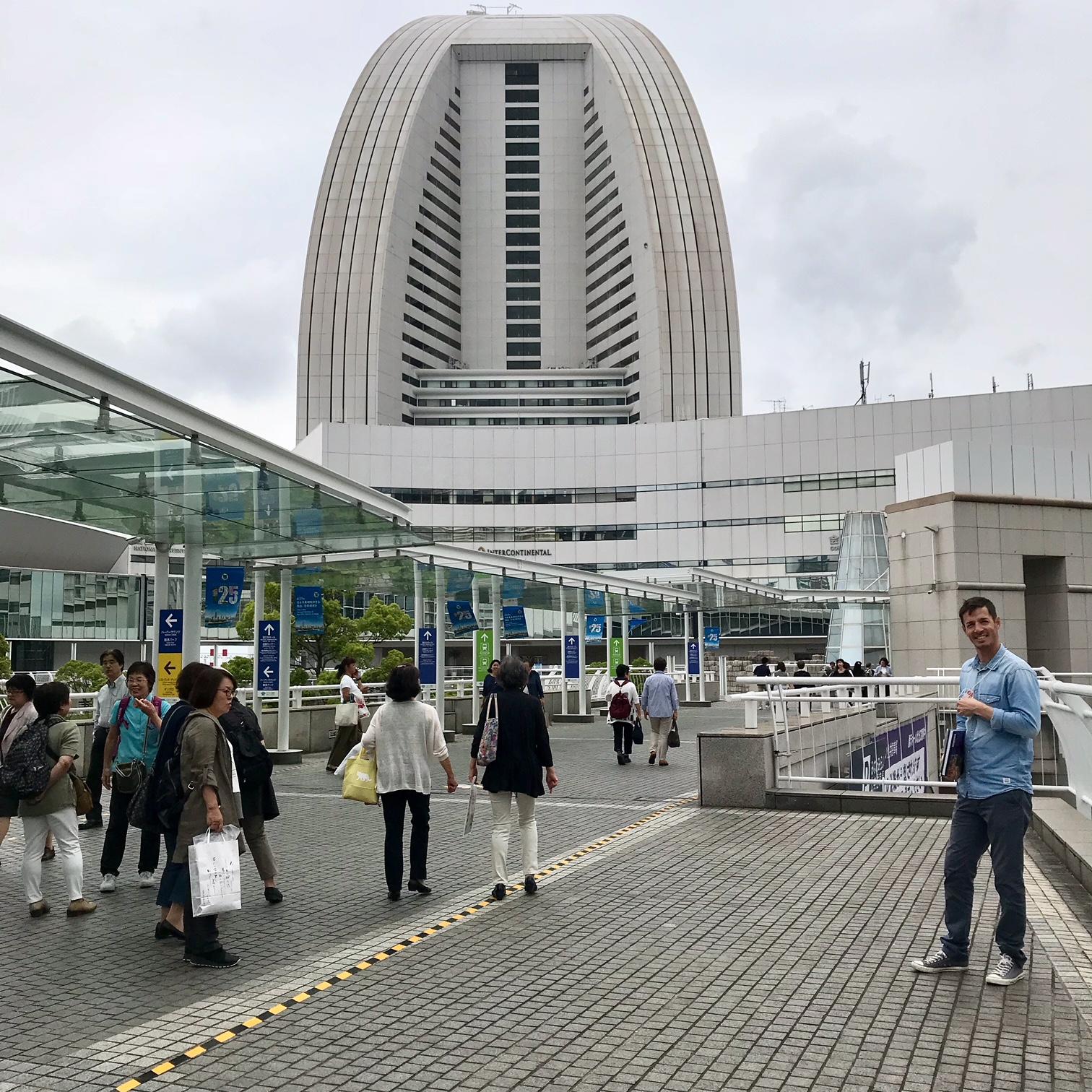 We stayed at the Intercontinental Hotel Yokohoma.