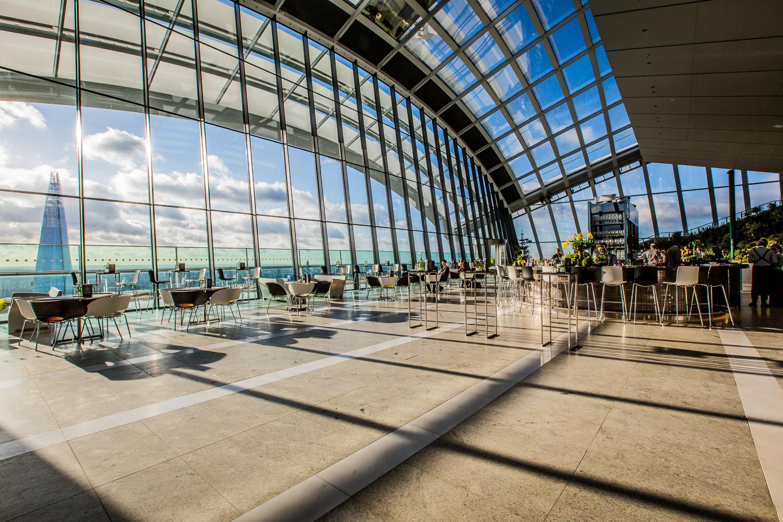 I MOVE ME SKY GARDEN SUNRISE YOGA CLASS LONDON CAFE RESTAURANT SHARD VIEW