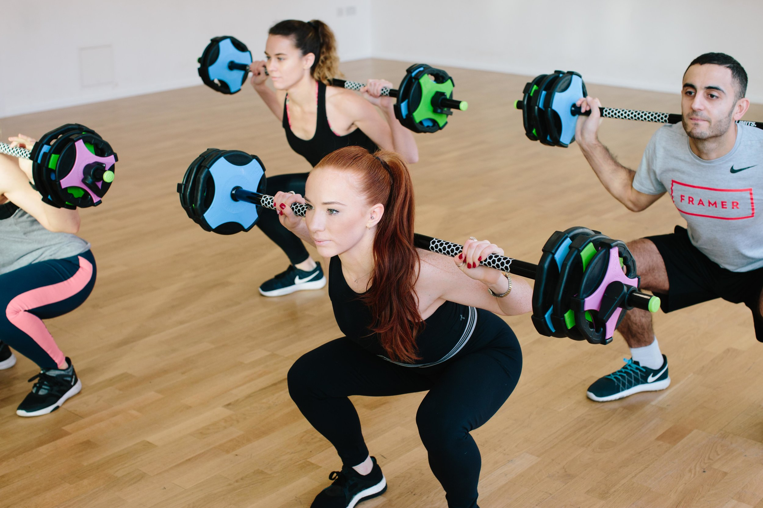 I MOVE ME HIIT STRENGTH FRAME SHOREDITCH LONDON BOUTIQUE FITNESS STUDIO WEIGHTS BARBELL