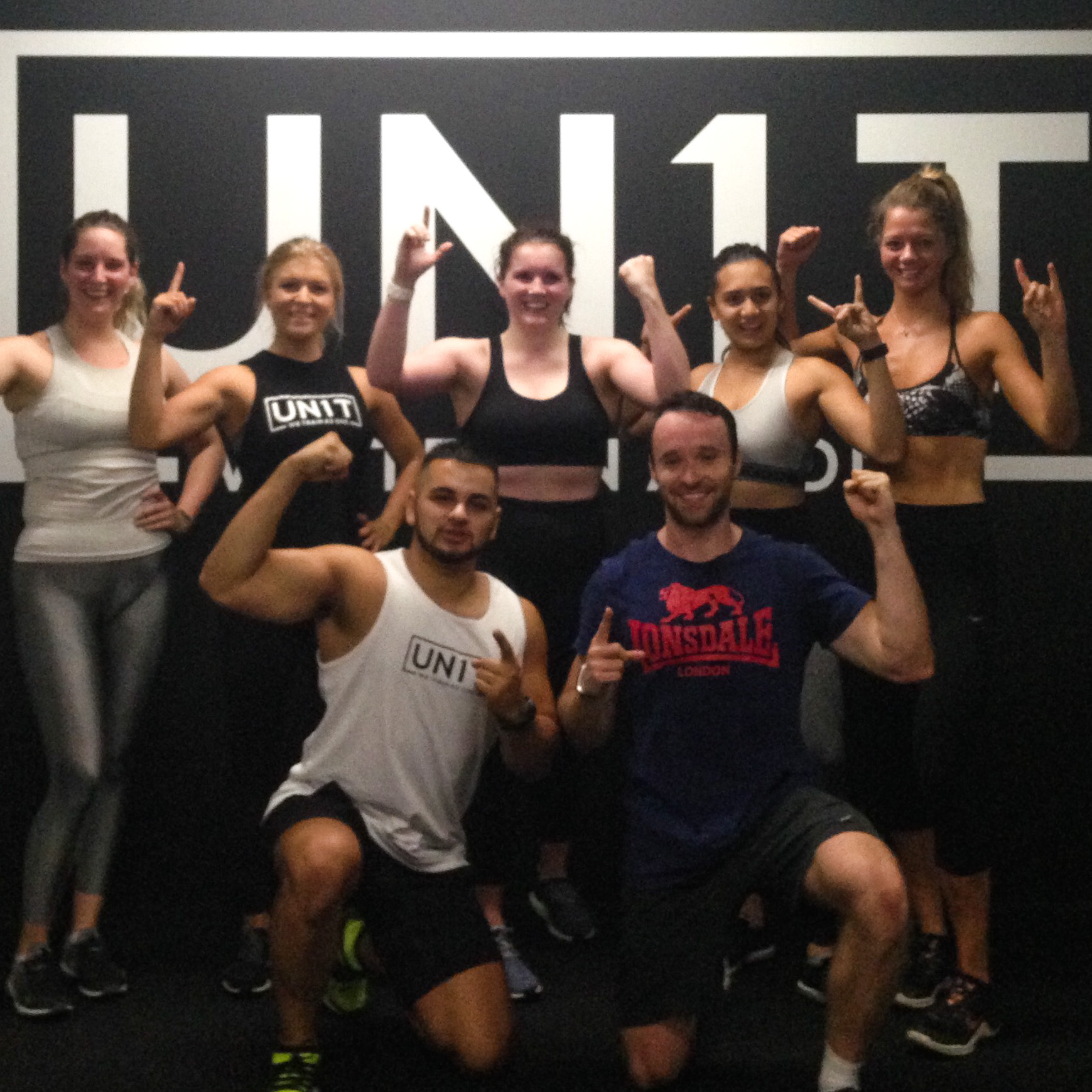 I MOVE ME TROOPER UN1T FULHAM LONDON BOUTIQUE FITNESS STUDIO TEAM PICTURE