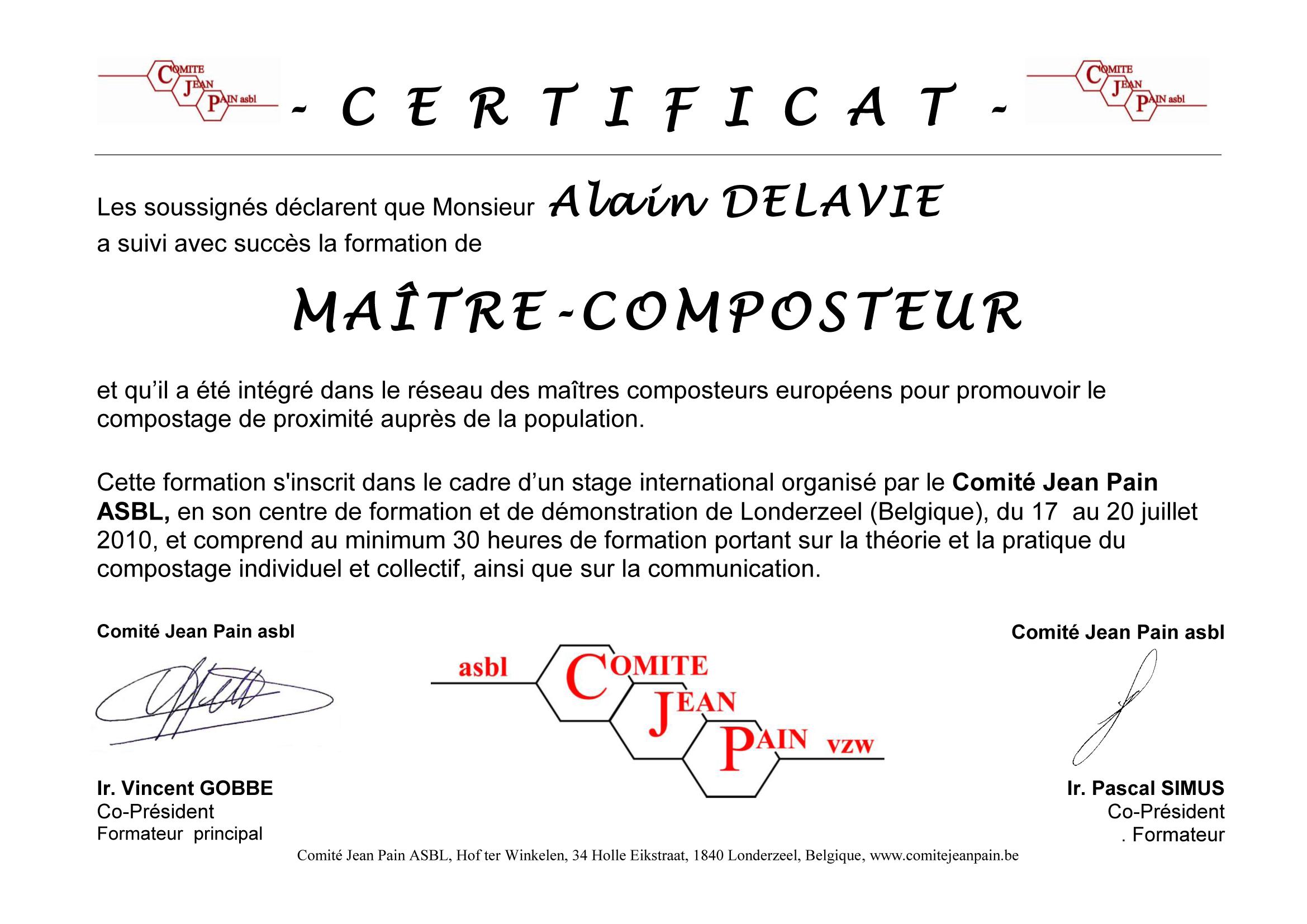 certificat-delavie-alain
