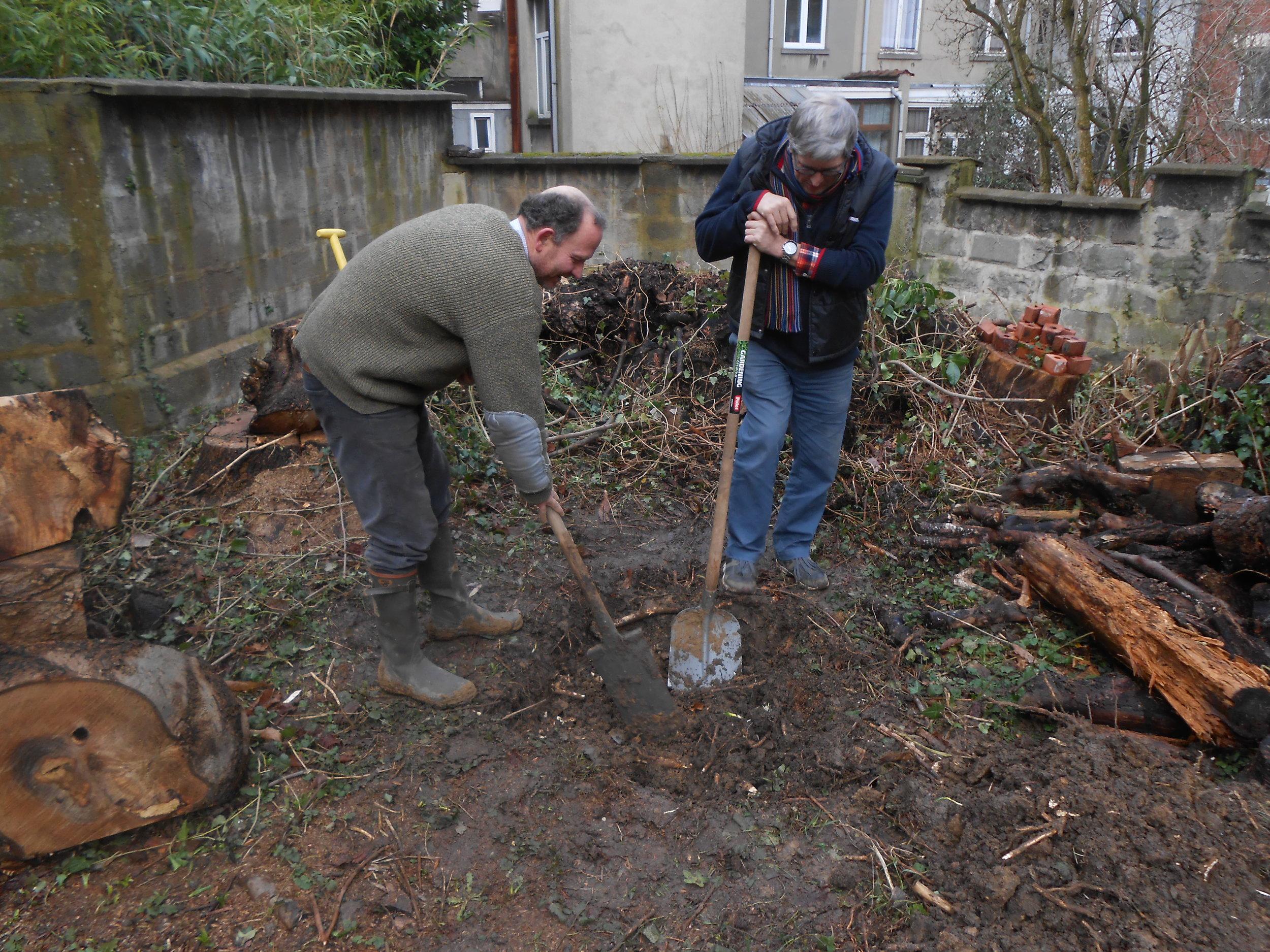 Préparation des fosses de plantation