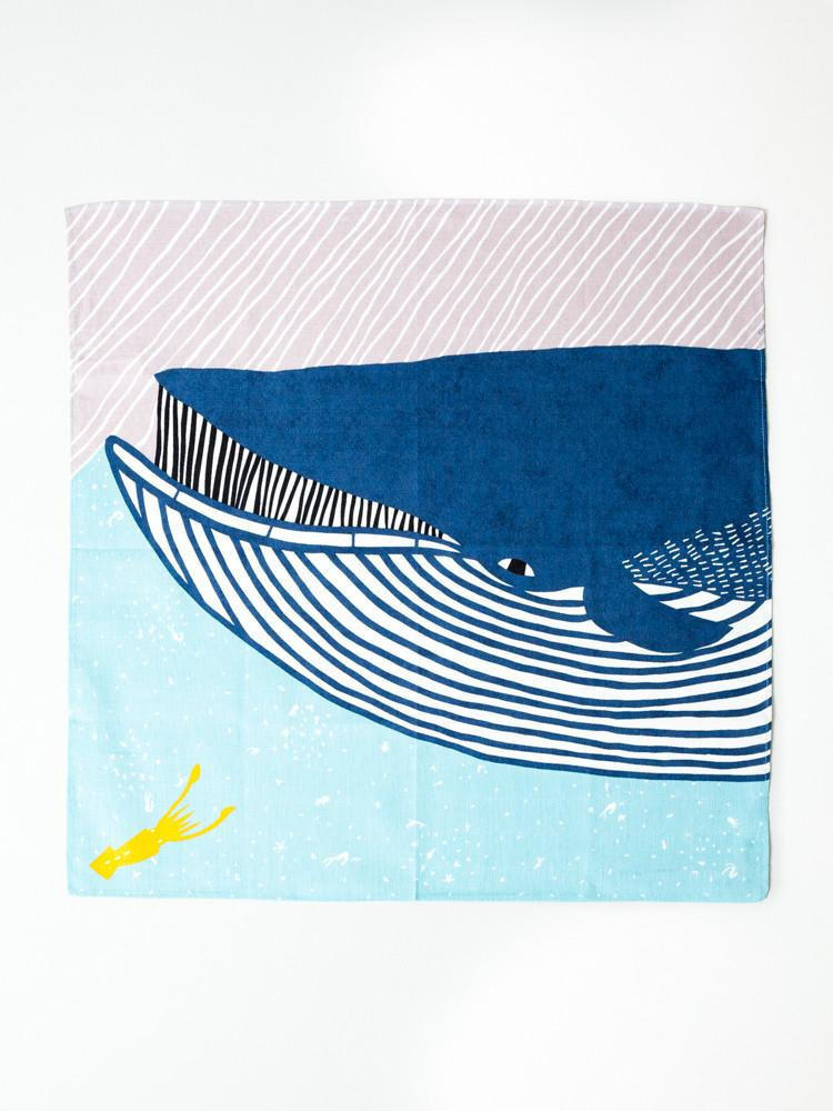 Whale and Squid Furoshiki Cloth Wrap - obviously we love this Ocean themed one by  rikumo