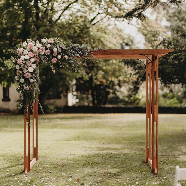A gorgeous archway built by the groom for their wedding day. Amelia and Jamie wanted a super unstructured soft pastel vibe, so we chose large roses and a mix of olive, gum and fern to create a wild feel. Meka girls bringing the vision to life. . . @mekafloral @fionavailphotography  #adorneventstyling #weddinginspo #tasmania #weddingplanning #weddingstyling #eventstyling #wedspiration #weddingideas #eventinspo #weddingdeco #tasmanianweddingstylist #ceremonyarchway #ceremonystyling