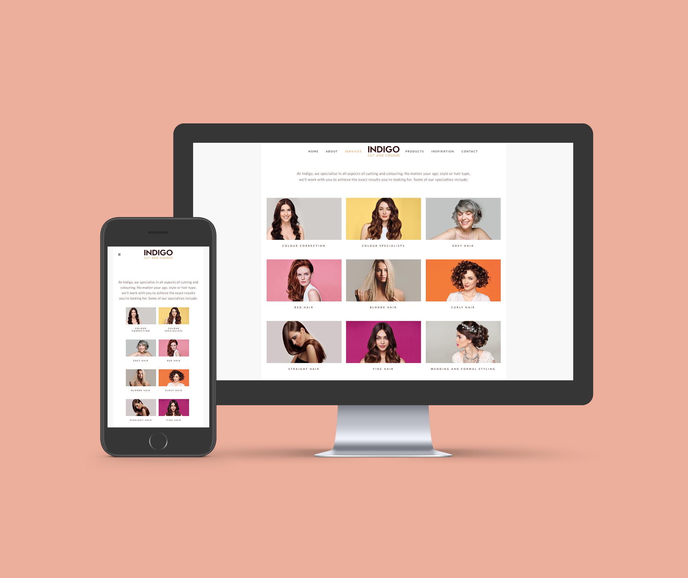 Indigo Cut & Colour Website