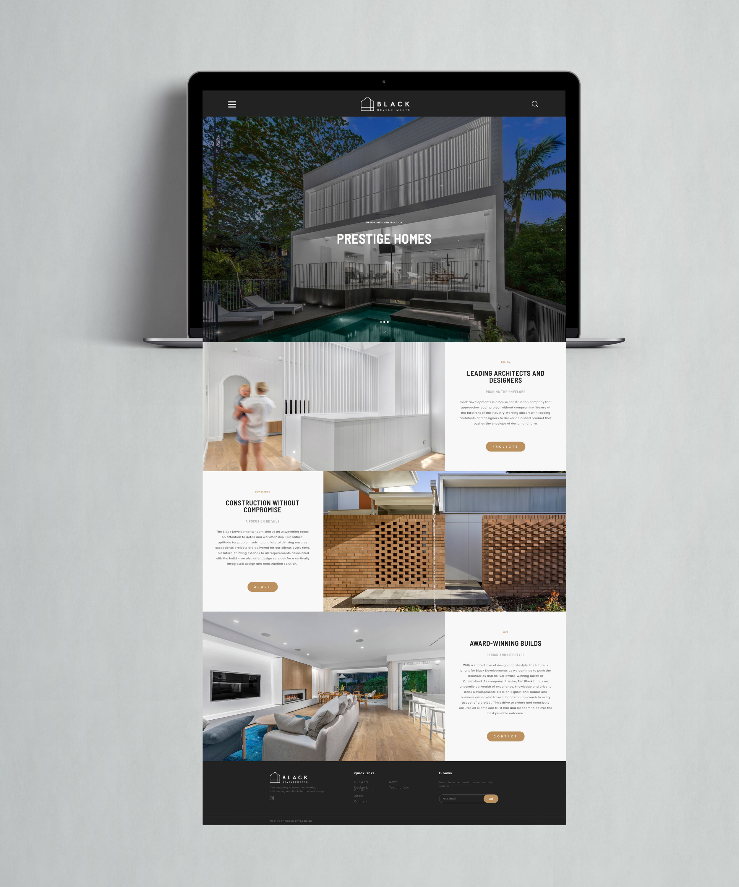 Black Developments Website Design