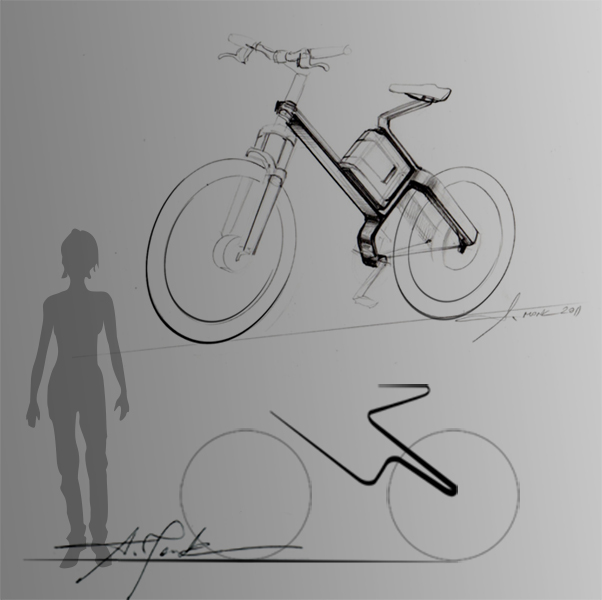 BICYCLE SKETCH FOR KLEVER MOBILITY