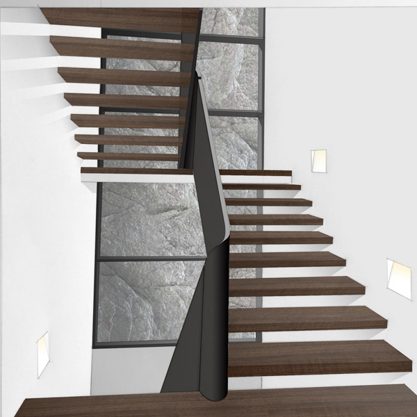 SKETCH FOR FLOATING STAIRCASE