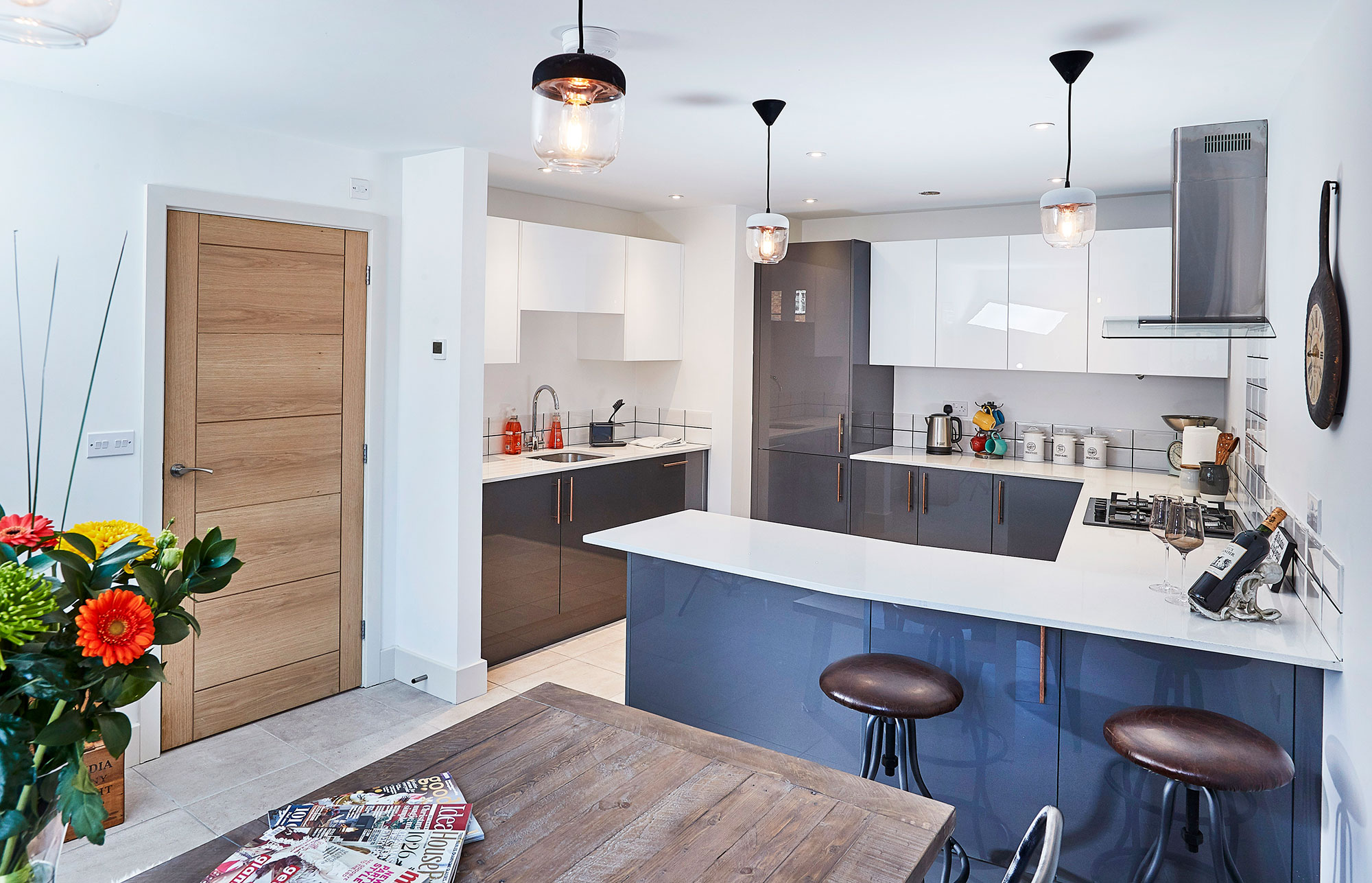 Kitchens at Old Mustard Mews are handmade by Ashbrooke Manufacturing