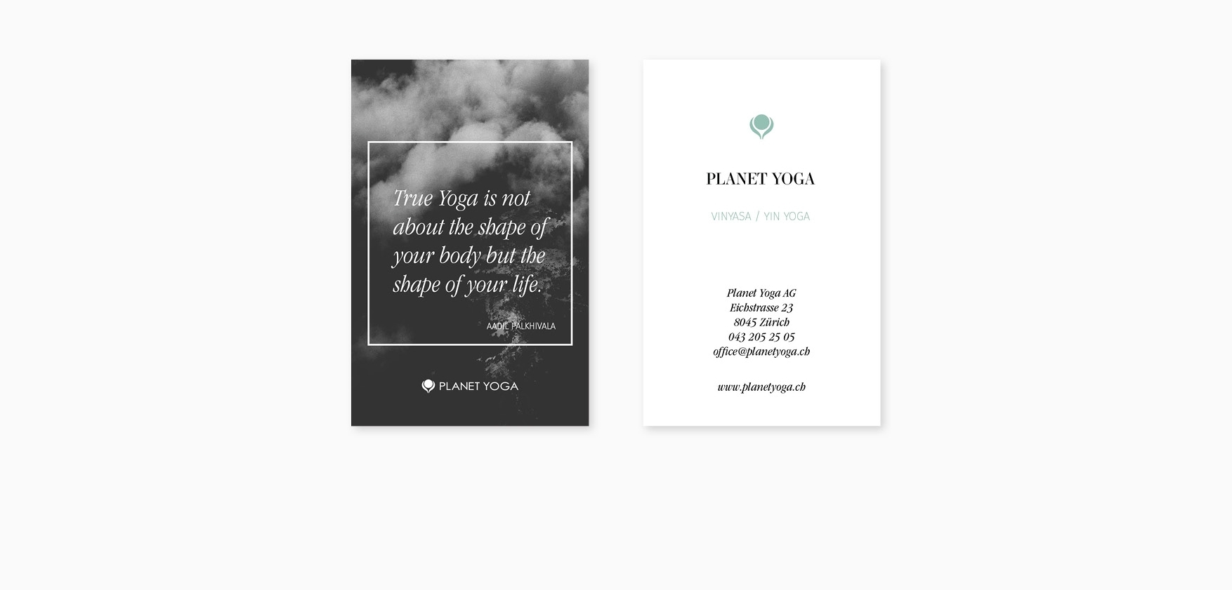 Planet Yoga Business Cards Anja Heimer