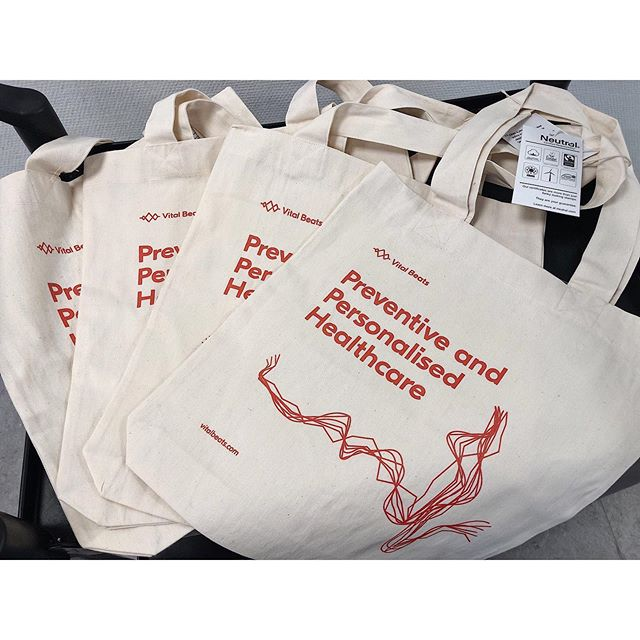 Check out our brand new organic tote bags �👜⠀ ⠀ What do you think? We personally love them ��⠀ ⠀ #totebag #totebagprint #promomaterial #organic #organicmarketing #organicbag #fairtrade #fairtradeproduct #healthcare #preventive #proactive #medicine #innovation #healthcareinnovation #medtech #startuplife #startup #medtechstartup #techstartup