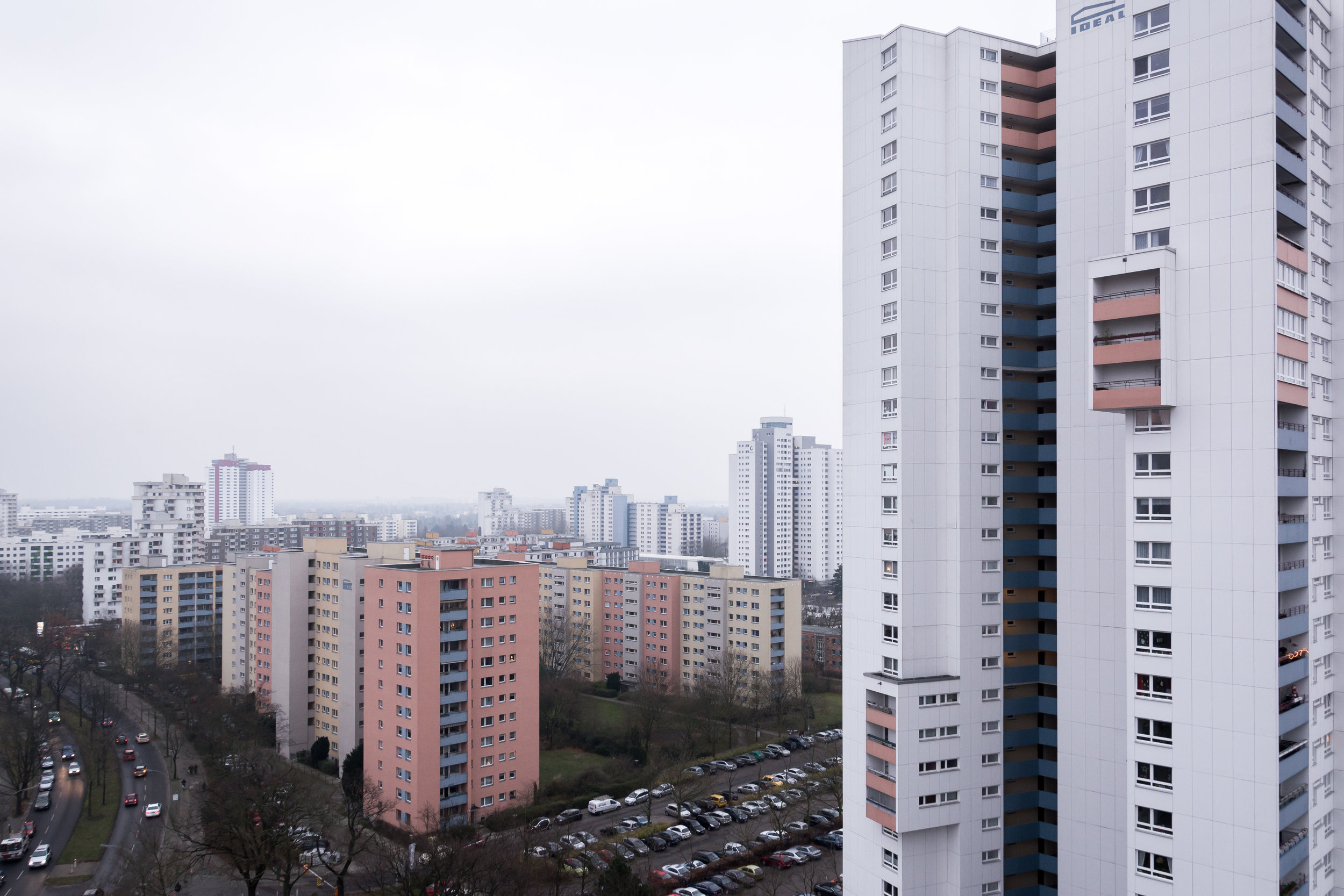 """the """"ideal""""-hochaus with its 31 storeys in december 2015."""