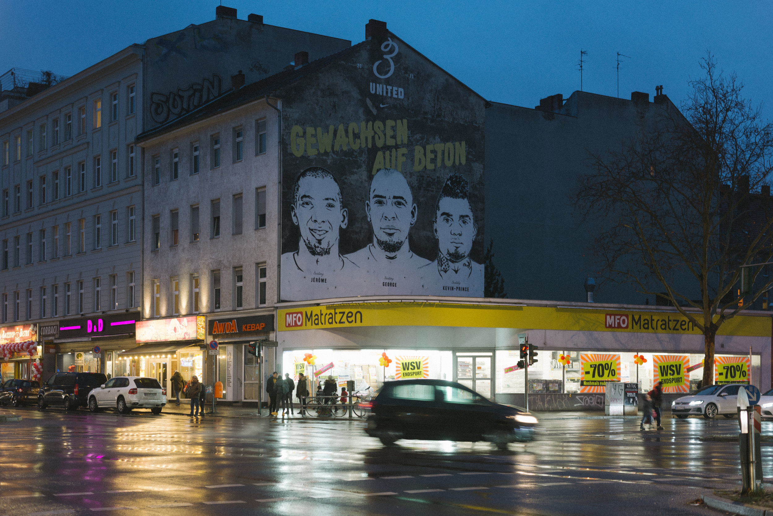 the infamous pankstraße with the mural of wedding-born and raised boateng brothers.