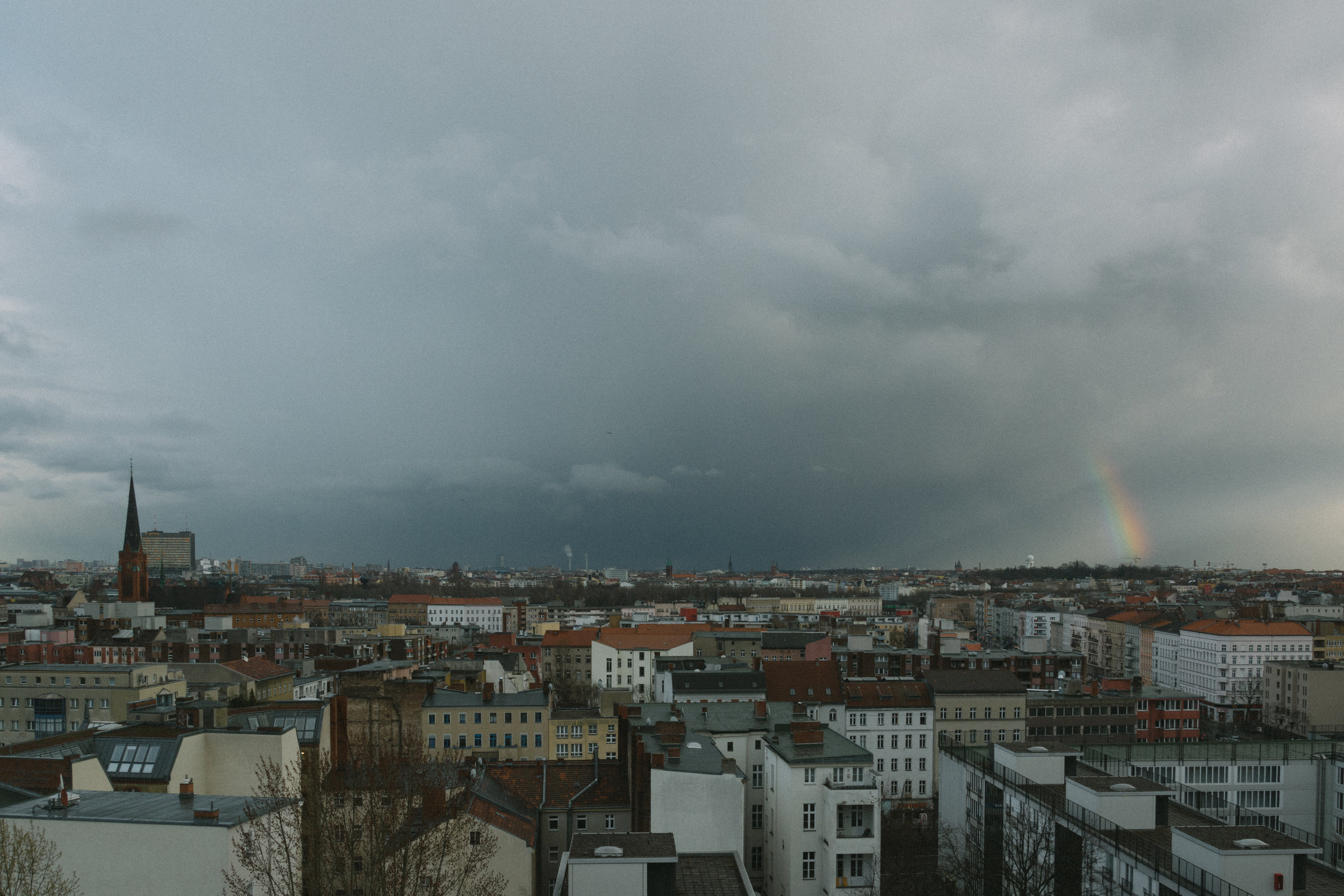 the only time in 3 years i've seen a rainbow in berlin but of course it has to be in schöneberg. 🌈