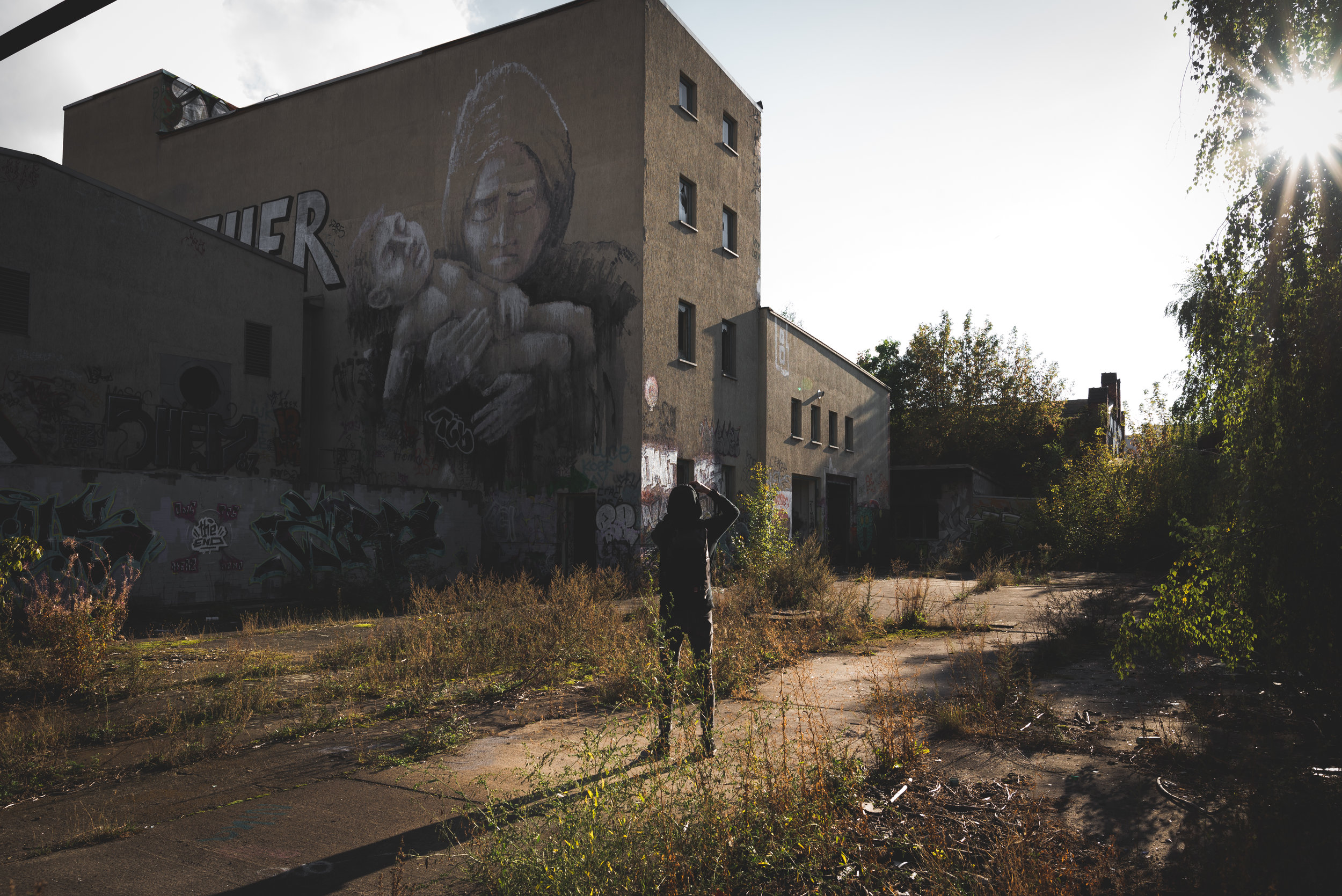 abandoned brewery with  chris .