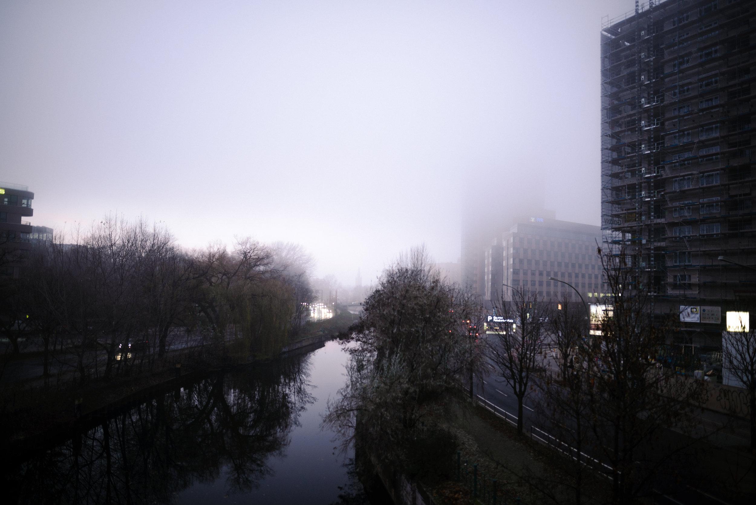 foggy berlin in december.