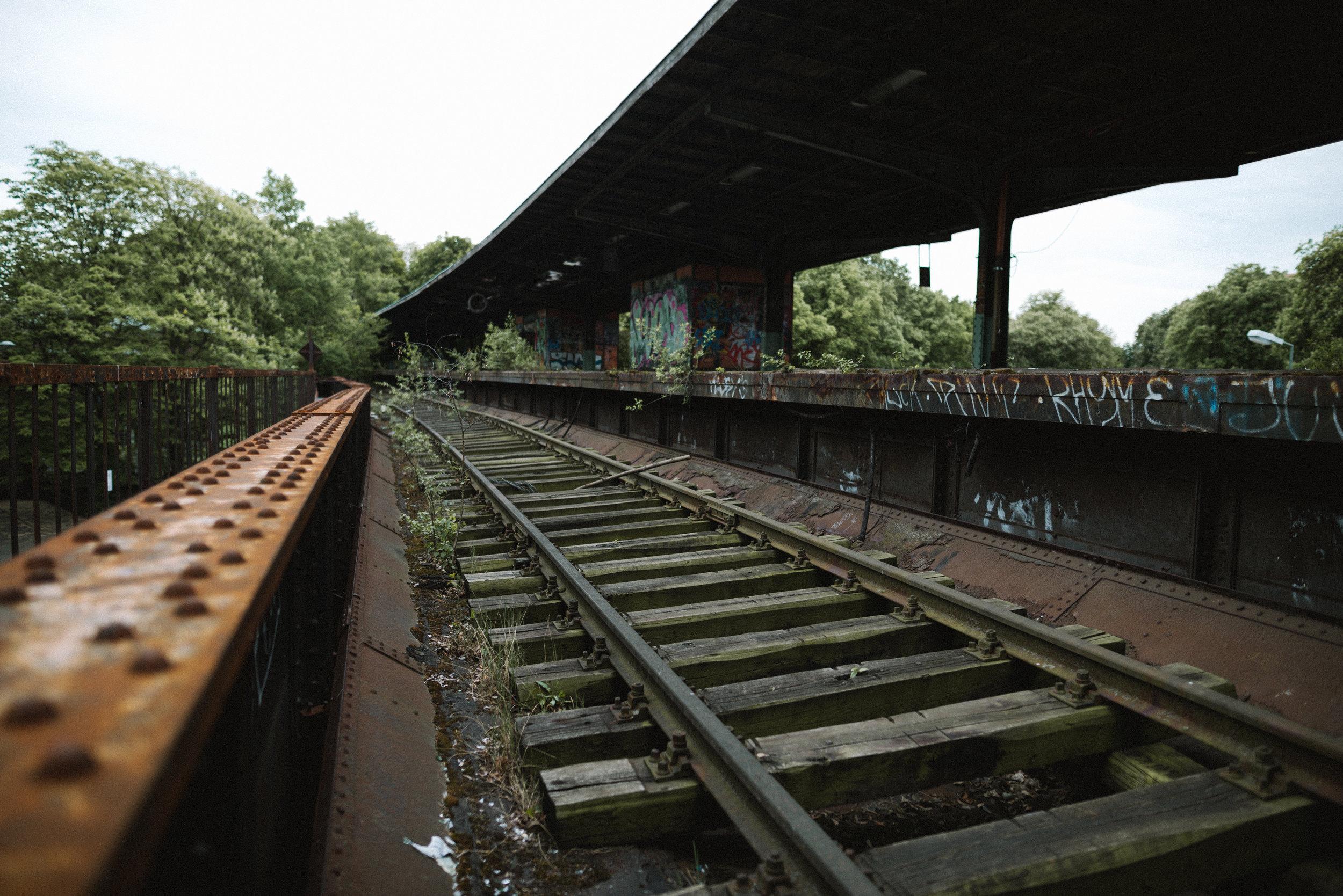abandoned s-bahn station in siemensstadt.