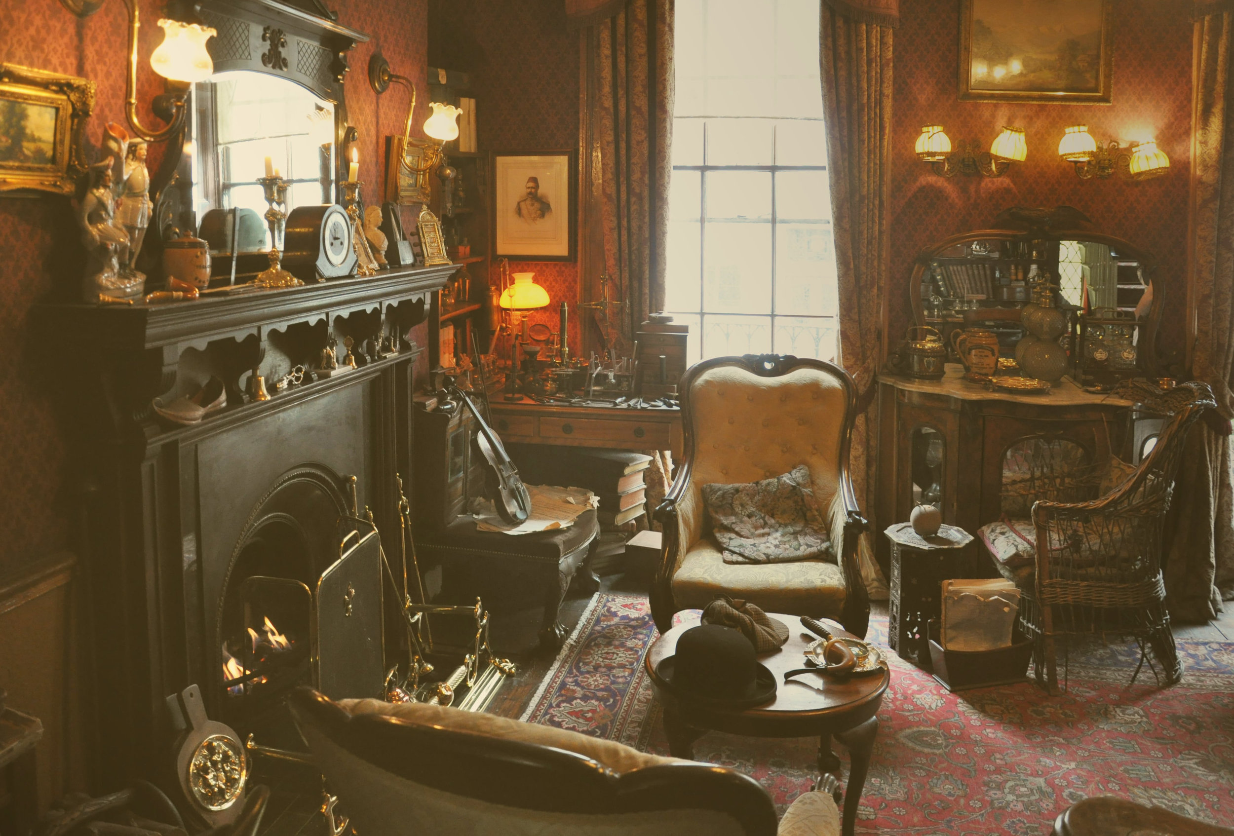 Source: London, England -- The Interior of 221 B Baker Street.