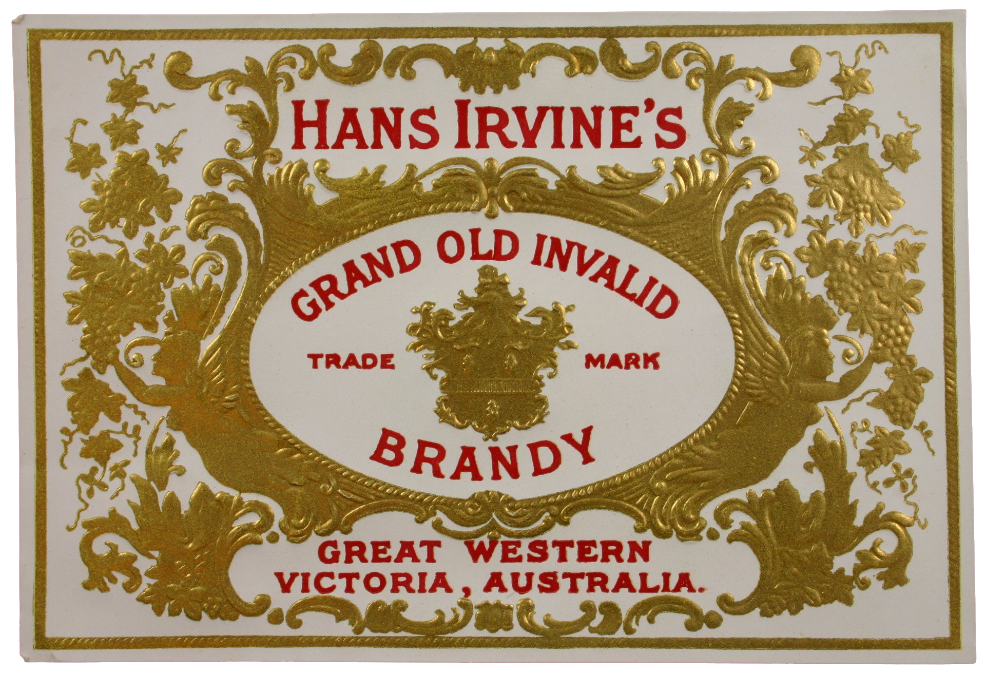 Source: Great Western Winery, Brandy, 'Grand Old Invalid', 1888-1918