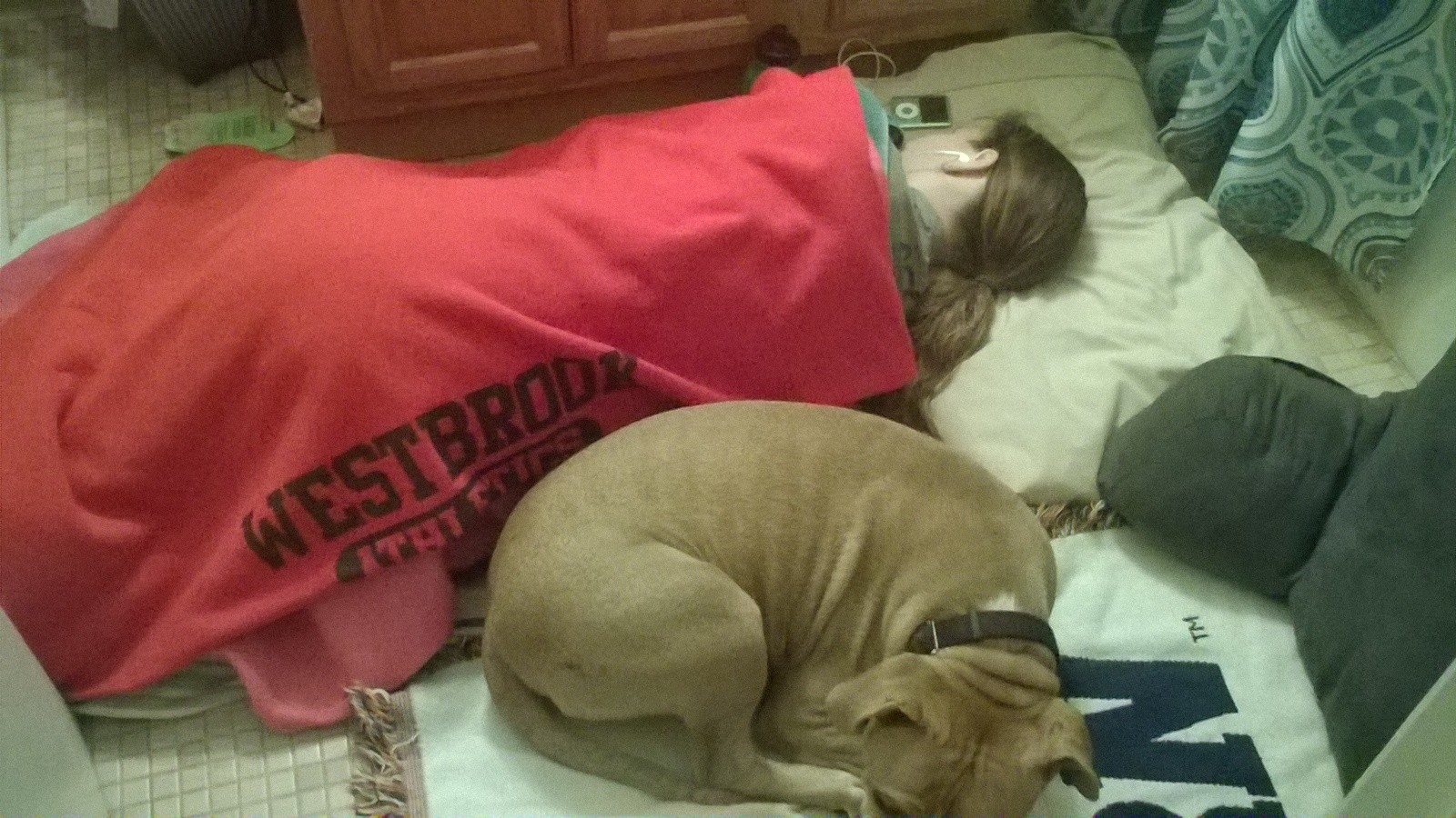 - Bruiser helping out when mom was sick