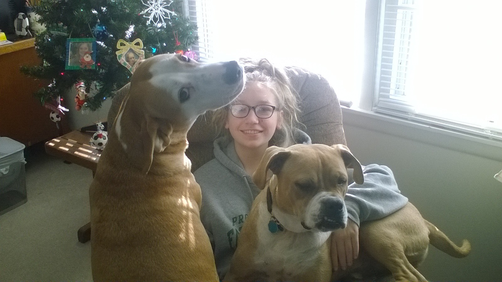 - Bruiser and Butterscotch with Kid #1
