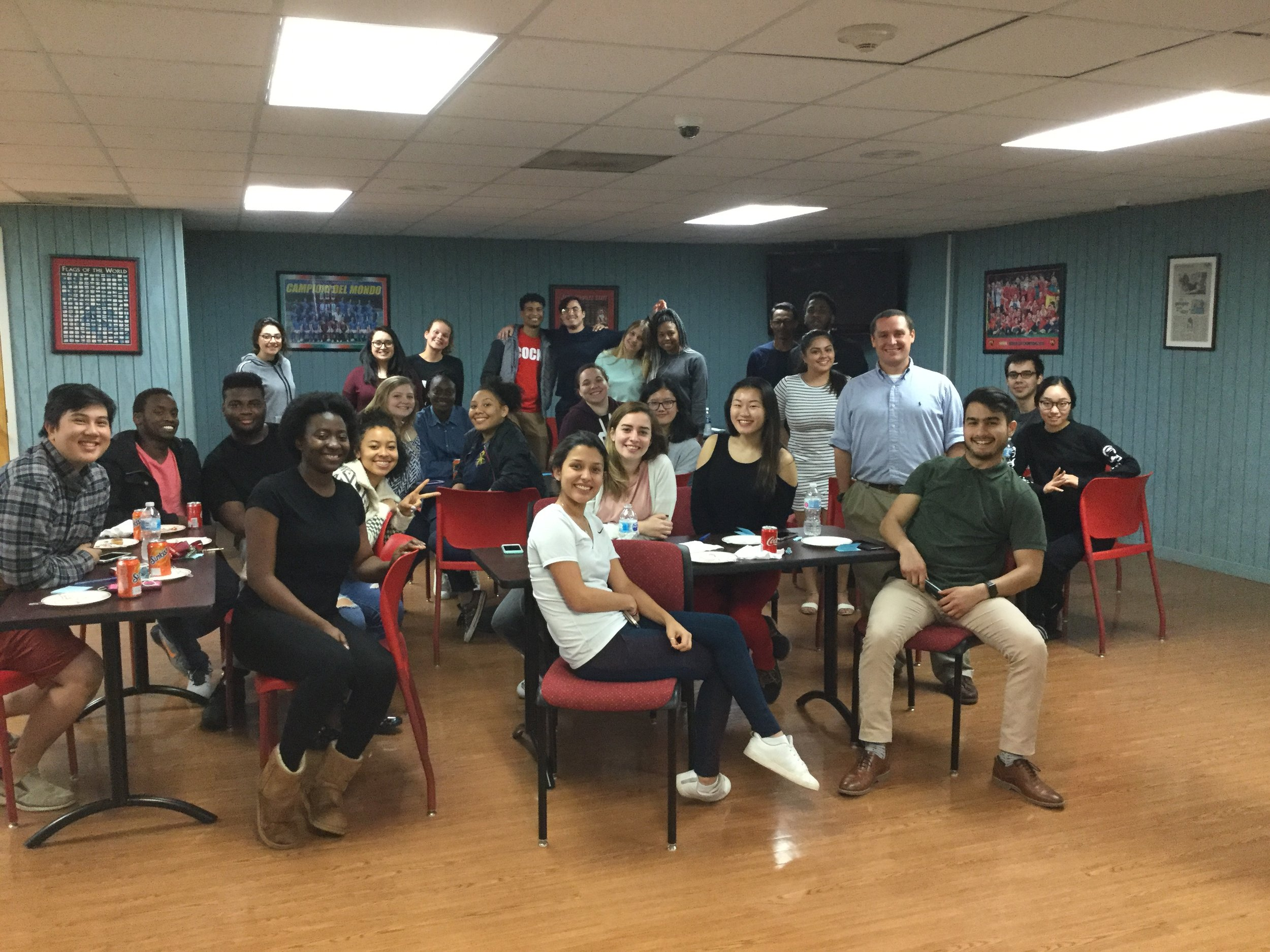 The amazing students at JSU's International House! We had a great time that night, and now my wife and I are glad to be able to help them out in the aftermath of the recent tornado.
