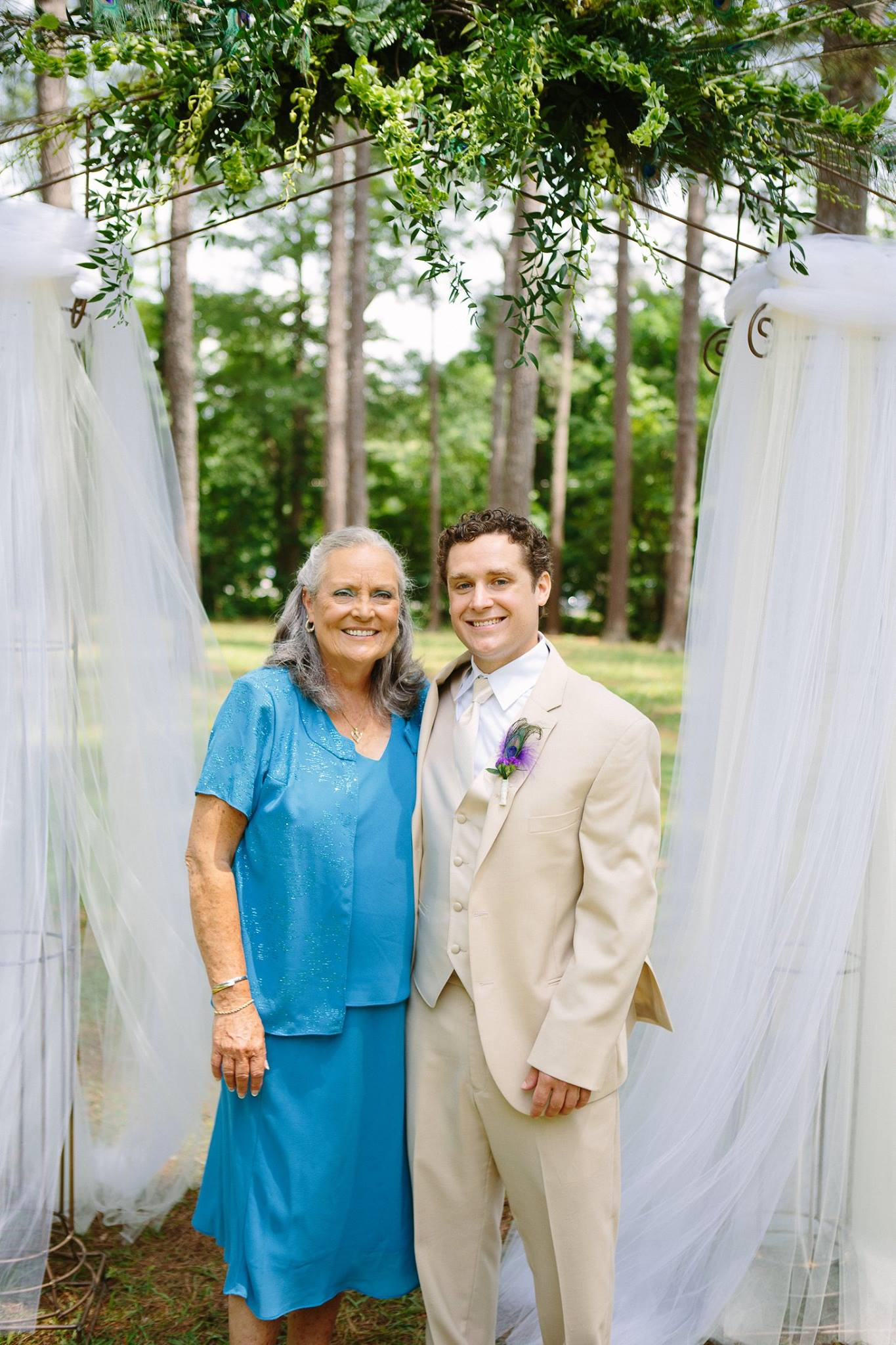 Mom and I at my wedding in 2014.