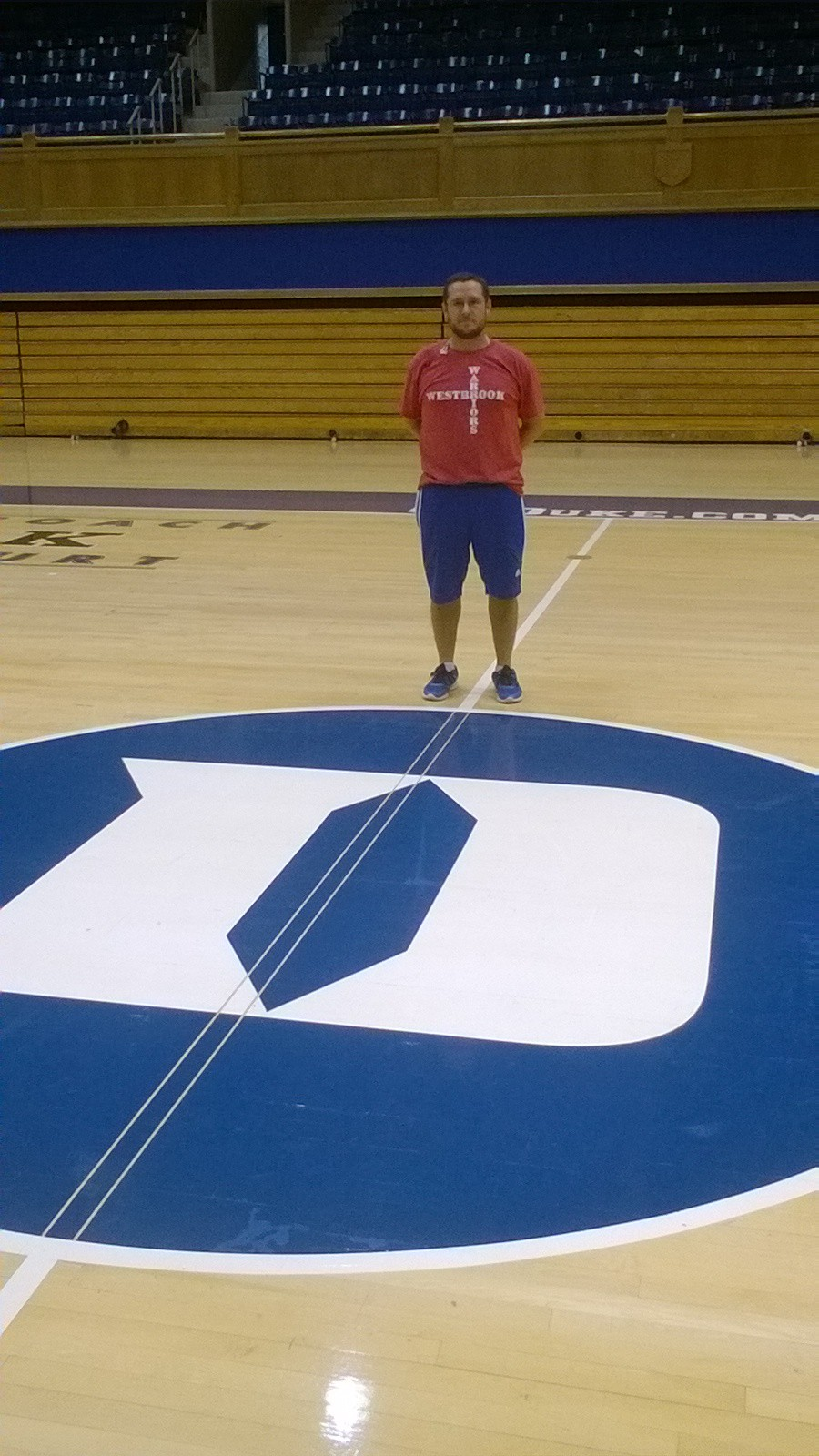 Standing at mid-court inside Cameron Indoor Stadium, a must for any Duke basketball fan to visit