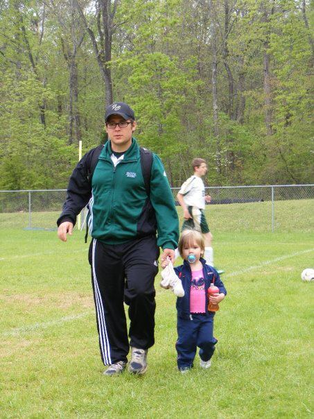 My younger daughter and I, back when she was still too young to play in our local league.