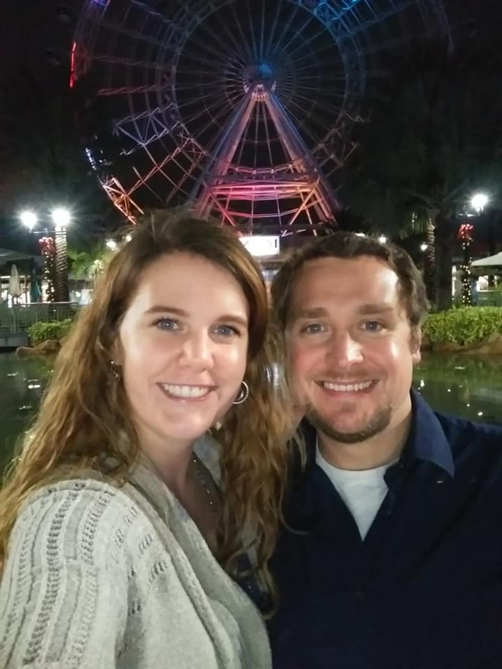 My wife and I enjoying a date in Orlando after I spoke at a conference there. It's hard not to be hopeful when surrounded by beauty.