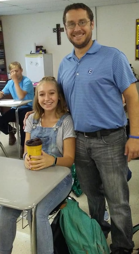 I'm grateful Carly's teacher let me stop by her room right as school started on the first day!